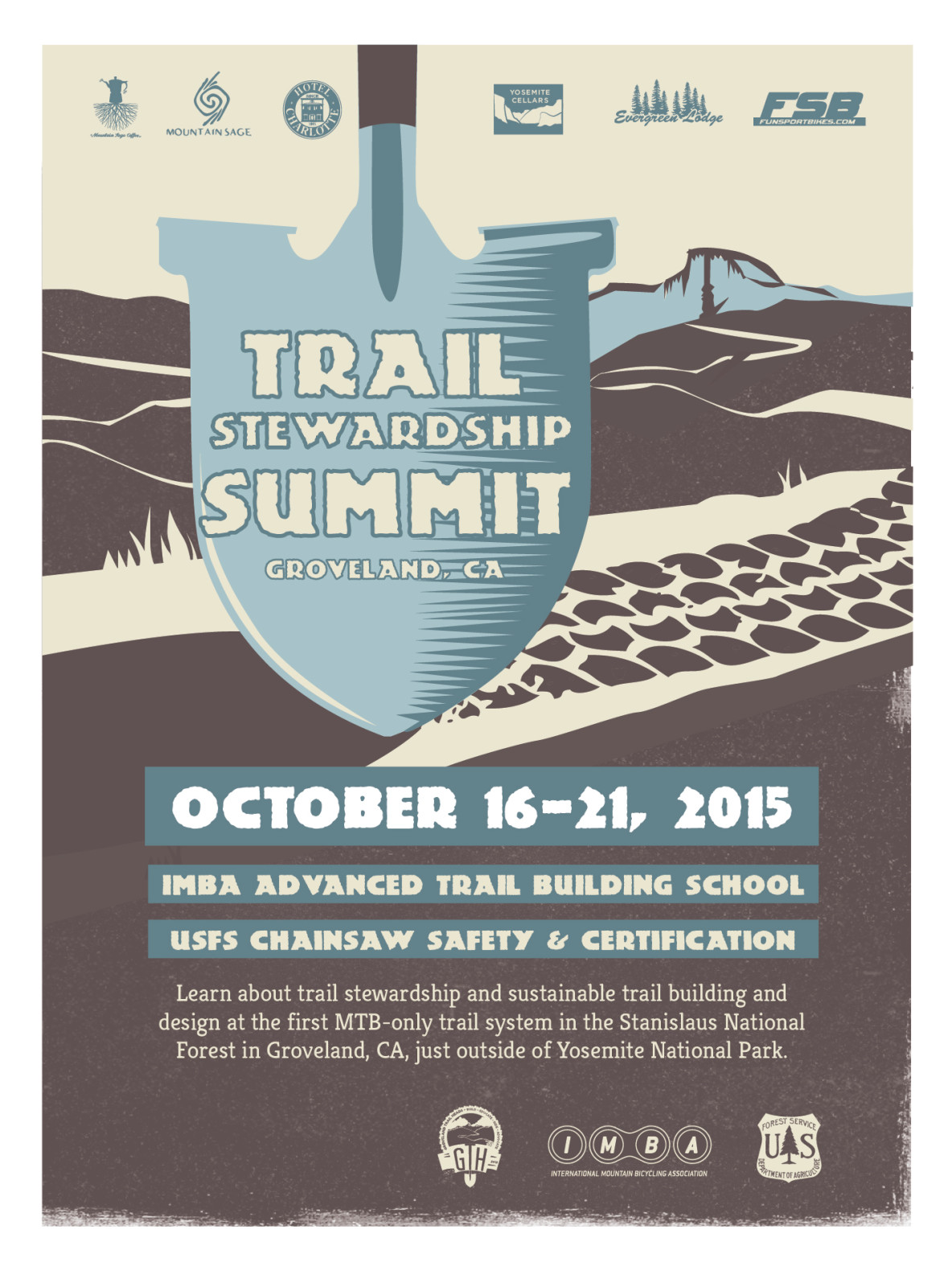 Poster Design for Groveland Trail Stewardship Summit